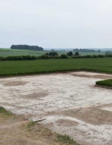 Photography is Trench D from the top of the spoil heap.