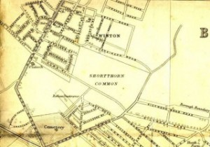 Map of Wimborne Road Cemetery, Bournemouth, Dorset