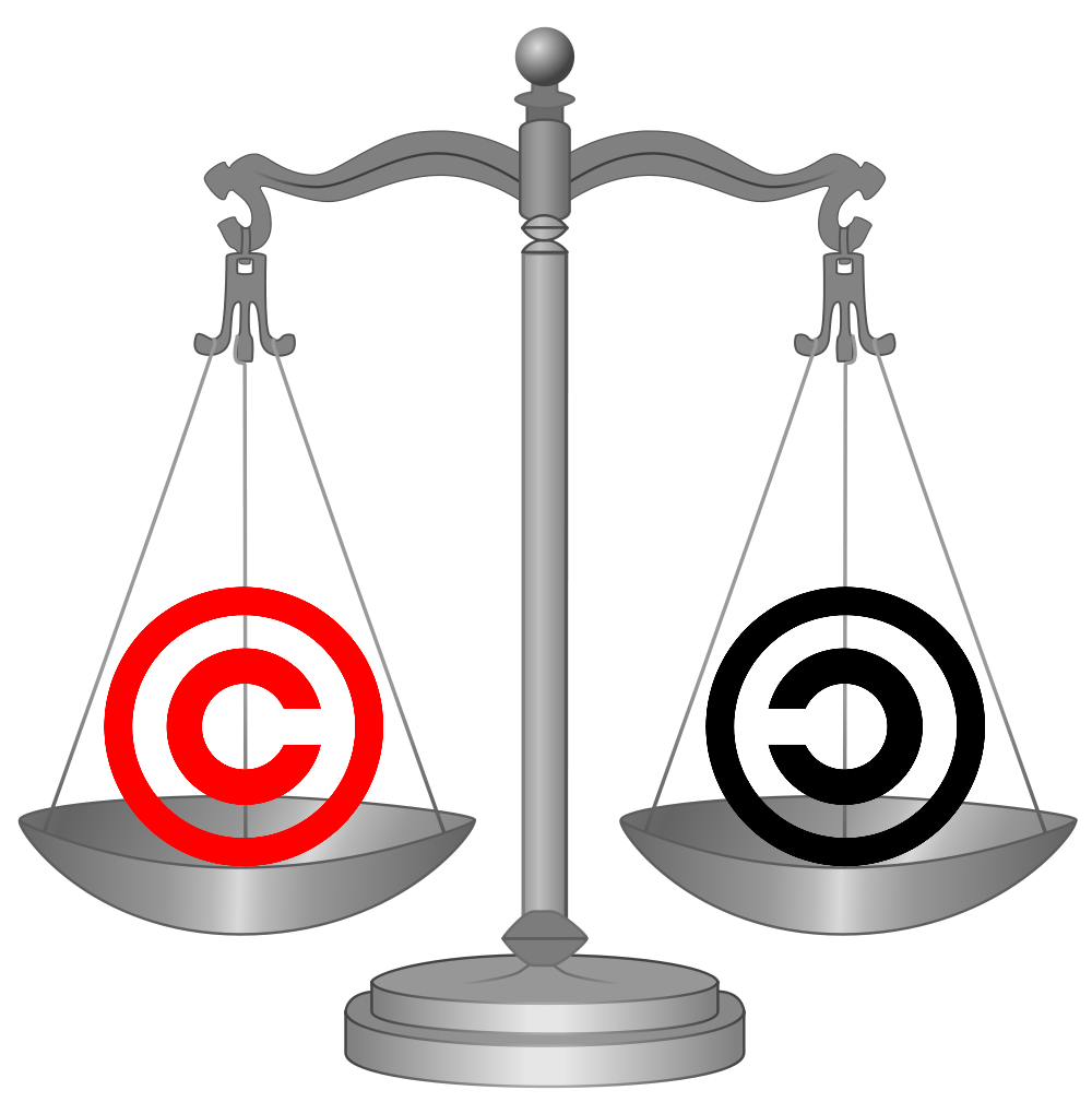 Scales of Justice Copyright Balance