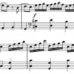 Sheet music for Mozart's Coda Sonata in C Major