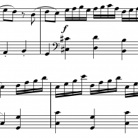 Sheet music for Mozart's Coda Sonata in C Major