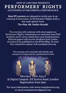 Performers' Rights Event Invitation
