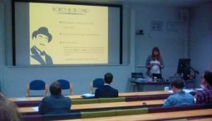 Kat presenting her paper