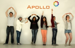 Apollo, a young and innovative Integrated Communications agency'. Team members from left: Dan Popescu, Deema Sonbol, Minee Bhise, Mengying Zhu, Holly Montague, Sarah Hambly