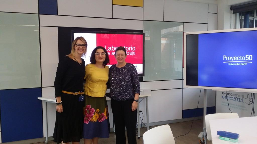 Marcela Wolff (EAFIT), Jacqueline Priego (BU) & Claudia Zez (EAFIT).