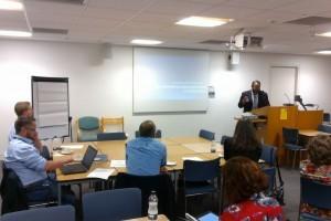 Dr Ehsan Khan of Kings College London, starts the BiNE Autumn meeting, September 2016