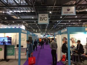 Photo of stands at BETT