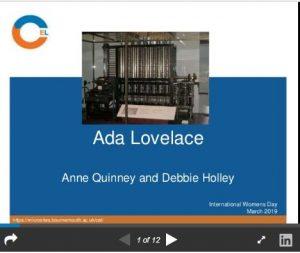 Ada Lovelace: a Victorian mathematician