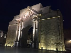 The Napoli Gate of the medieval town of Lecce, Italy