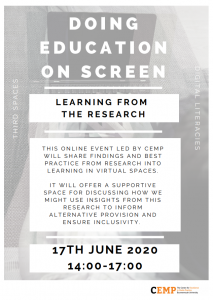 CEMP Workshop: Doing Education on screen