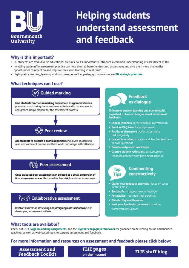 Understanding Assessment and Feedback