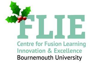 FLIE logo with holly
