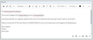 Example of an intelligent agent email