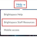 Brightspace help tab