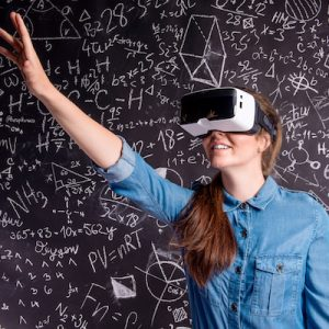 Person using VR Set