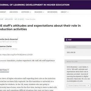 Journal of Learning Development in HE