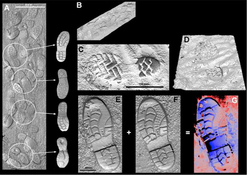 Analysis of shoe prints