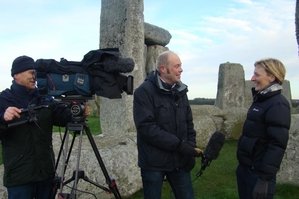 Dr Kate Welham interviewed by journalist Duncan Sleightholme