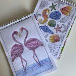 2 colouring books