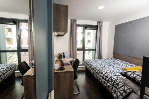 Example bedroom in halls