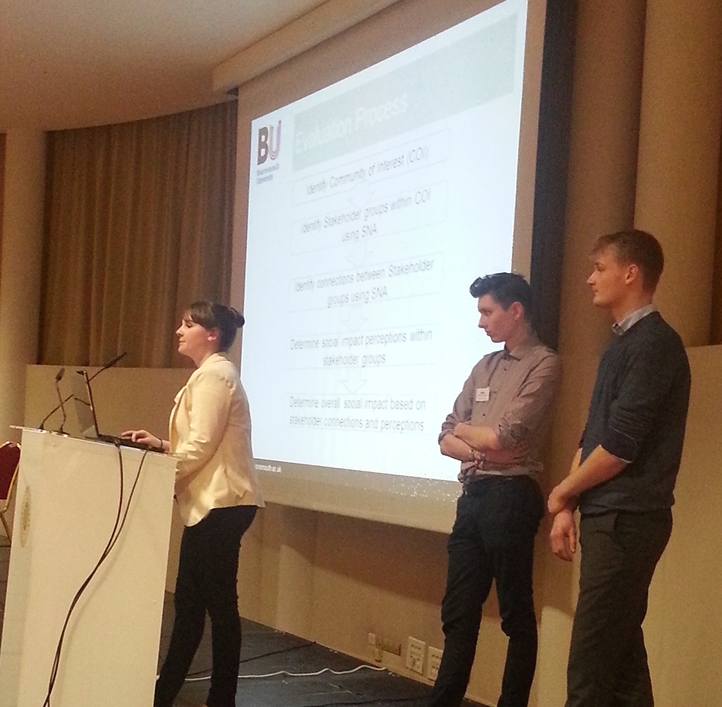 Courtney, Rogan and Ryan presenting at the main conference.