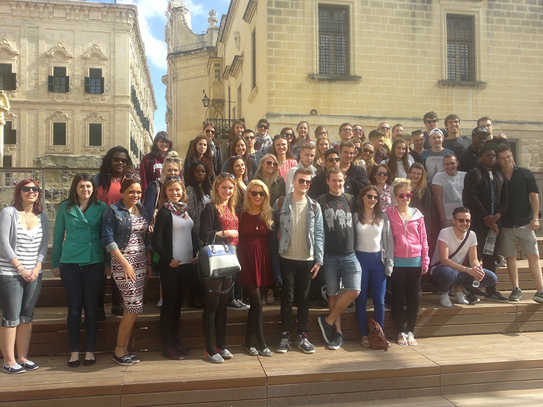 Tourism students on field trip to malta
